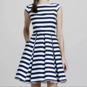 Kate Spade Mariella Blue Stripe Dress Size 12